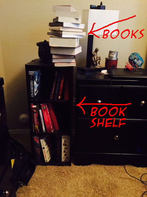 Book shelf laziness